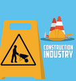 construction industry concept vector image vector image