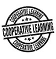 cooperative learning round grunge black stamp vector image vector image