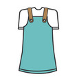 cute girl costume icon vector image