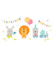 cute scandinavian boho style teddy animals vector image