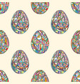 easter eggs seamless pattern abstract holidays vector image vector image