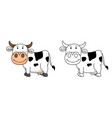 educational coloring book-cow vector image vector image