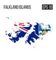 falkland island map border with flag eps10 vector image