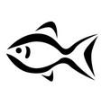 fish icon vector image vector image