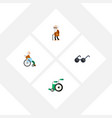 flat icon disabled set of ancestor spectacles vector image vector image
