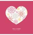 folk floral circles abstract heart vector image