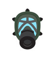 gas mask isolated flat icon vector image vector image