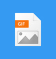 gif document gif file format icon vector image vector image