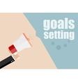goals setting Megaphone Icon Flat design vector image vector image