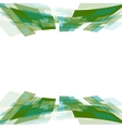 Green motion squares on white vector image vector image