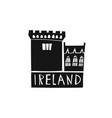 hand drawn ireland logo travel of republic vector image vector image
