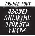 Handwritten alphabet Grunge texture vector image vector image