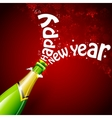 Happy New Year with Champagne vector image vector image