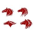 horse mascots vector image vector image
