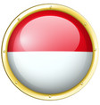 indonesia flag in round frame vector image vector image