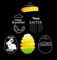 label elements easter phrases vector image