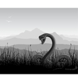 landscape with angry snakes vector image vector image