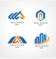 logo template for property business vector image vector image