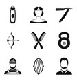 male salon icons set simple style vector image