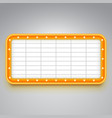 marquee sign board for announcements billboard vector image vector image