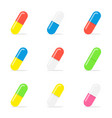 medical capsule pills vector image