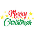 merry christmas on white background vector image