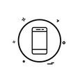 mobile phone basic icon design vector image vector image