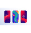 mobile screen display with abstract wallpaper vector image