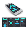 mobile user interface app kit template with vector image vector image