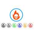 mortal flame rounded icon vector image vector image