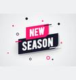 new season label modern dynamic sales banner vector image vector image