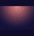 night shining starry night sky with stars vector image
