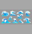 ocean wave set vector image
