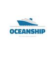 OceanShip - logo concept vector image vector image