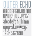OUTER ECHO retro striped rounded font vector image vector image