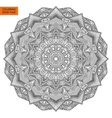 Outline Mandala Flower for Coloring Page vector image