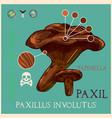 paxil mushroom vector image