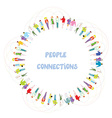 People communication background - frame vector image vector image