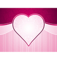 pink background with big heart and roses vector image vector image