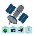 set of journalism devices icons vector image vector image