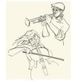 sketch of musicants vector image vector image