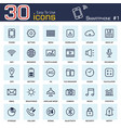 smartphone system icon set 1 outline style vector image