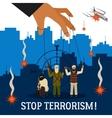 Stop Terrorism vector image vector image