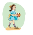 Sweet girl with ball vector image