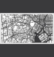 tokyo japan city map in retro style outline map vector image
