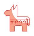 usa donkey symbol icon vector image vector image