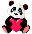 valentine panda vector image