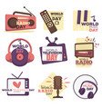 world video and audio media resources day isolated vector image vector image