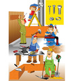 Construction site icons vector image