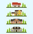 cottage houses set vector image